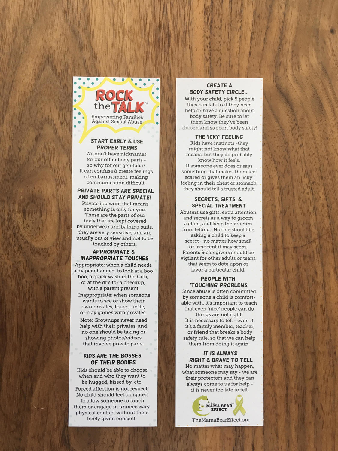 Rock The Talk® Bookmarks