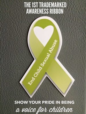 End Child Sexual Abuse Awareness Ribbon Magnet