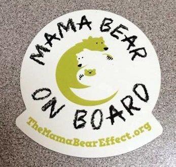 Mama Bear On Board Car Magnet