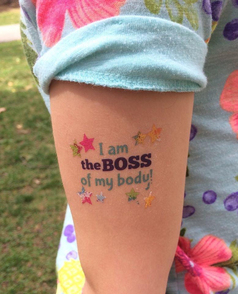 "Temporary Tattoos ""I am the Boss of My Body"" - NEW!"