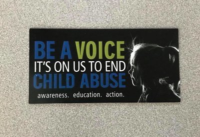 Be A Voice It's On Us to End Child Abuse Car Magnet
