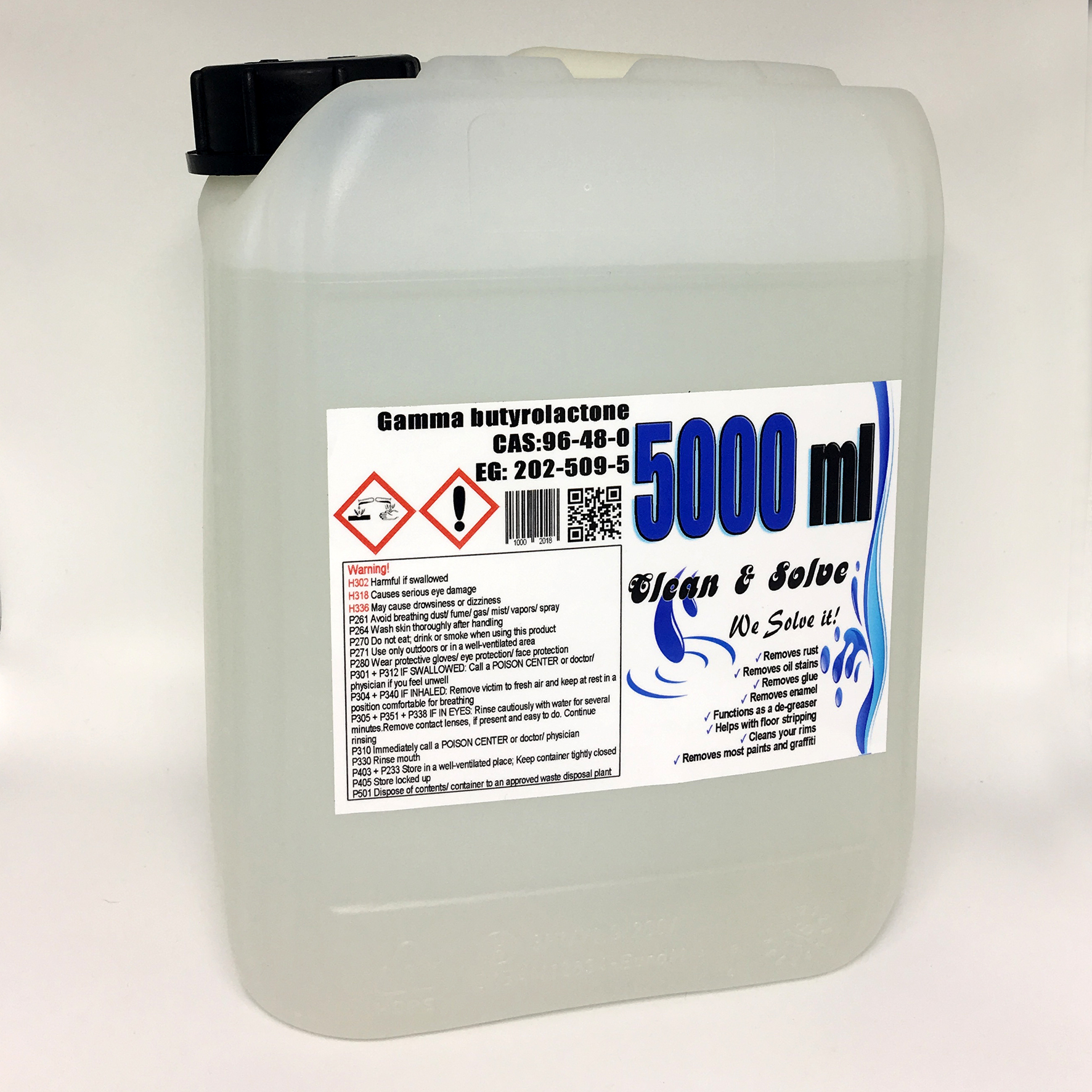Industrial Cleaner 5.000 ml Technical Grade Canister 00029 HS Code 29322020