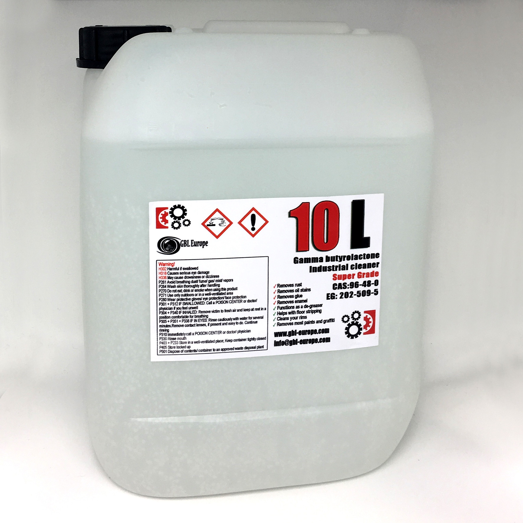 Industrial Cleaner 10.000 ml Super Grade Quality Canister 00260 HS Code 29322020