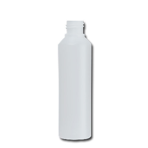 HDPE Industrial natural round bottle 250ml 28/410 including cap 1720-V
