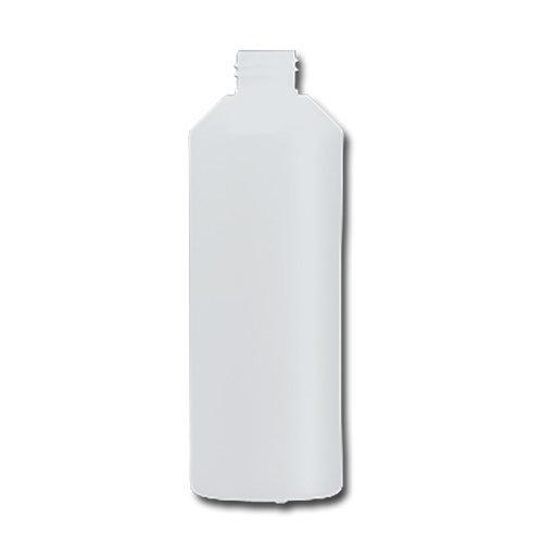 HDPE Industrial natural round bottle 500ml 28/410 including cap 1407-V