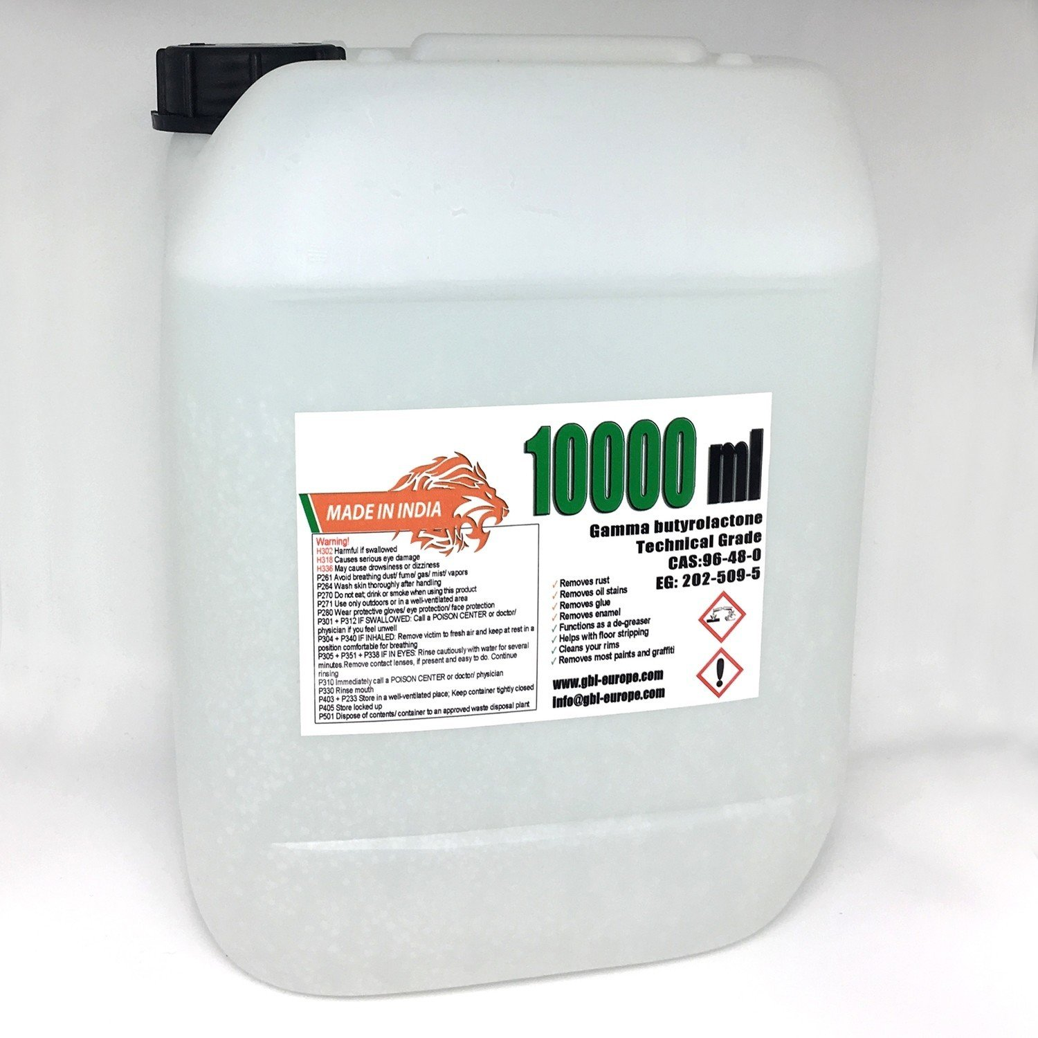 Multi Remover 10.000 ml Technical Grade India Canister + with every order 1x 500 ml technical grade Free!