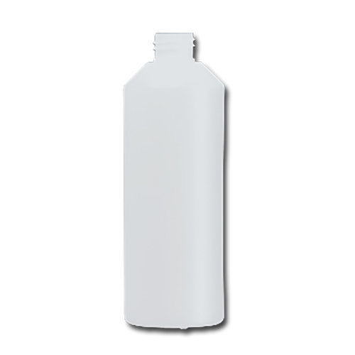 HDPE Industrial natural round bottle 500ml 28/410 including cap 1407-V