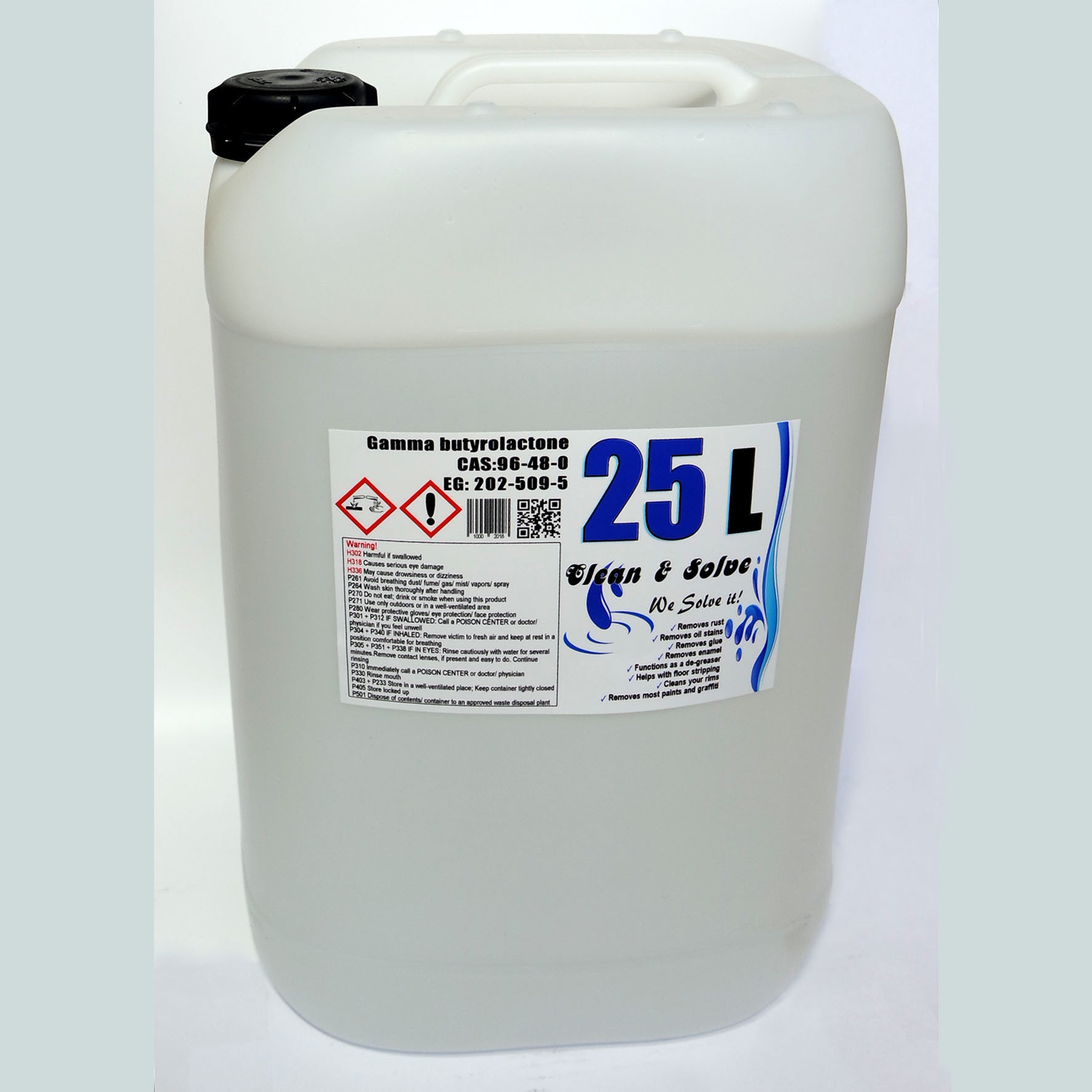 Industrial Cleaner 25.000 ml Technical Grade Canister +1x 500ml Super Grade FREE! 00025 HS Code 29322020