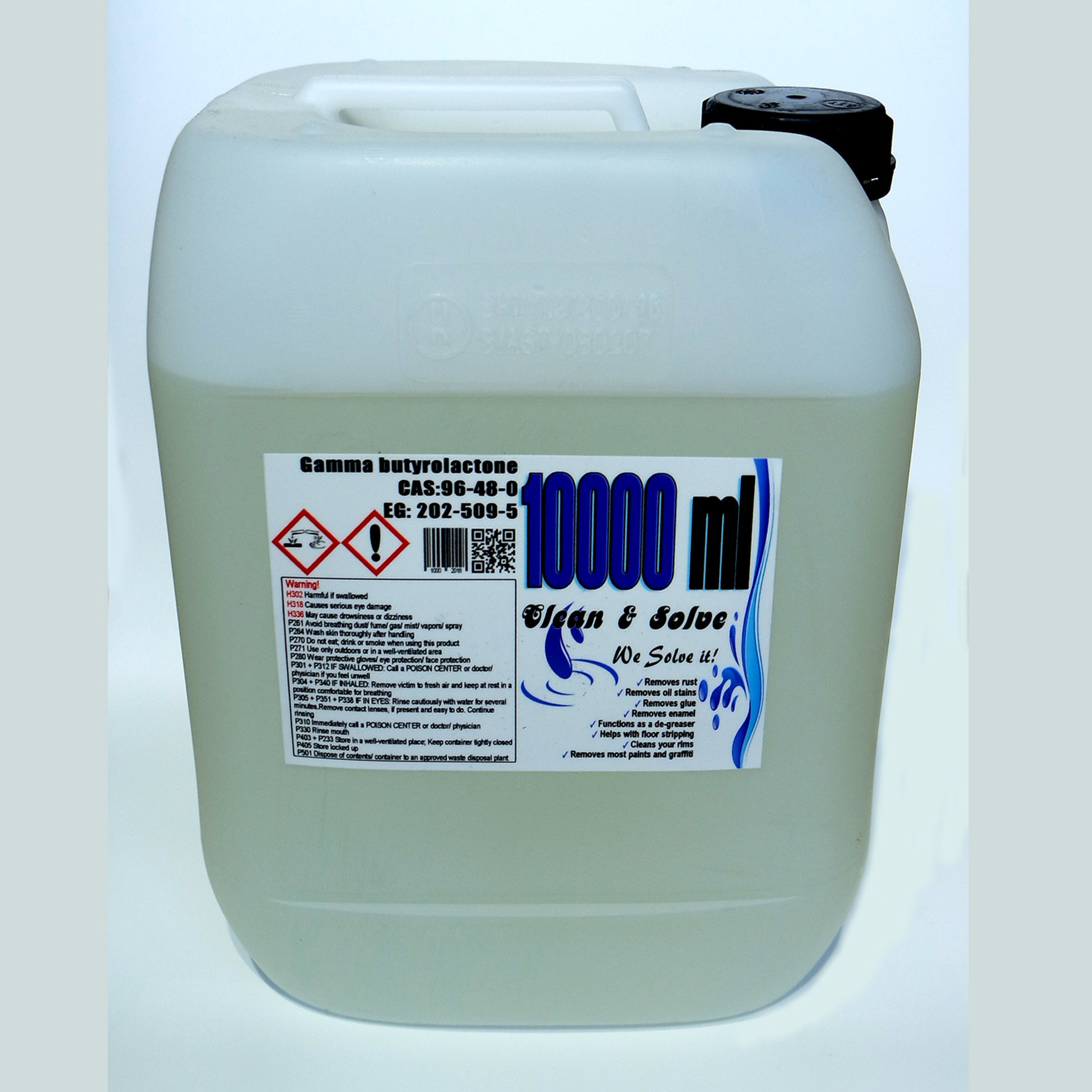 Industrial Cleaner 10.000 ml Technical Grade Canister +1x 500ml Super Grade FREE! 00027 HS Code 29322020