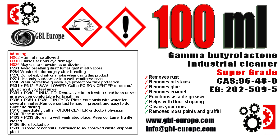 Industrial Cleaner 100 ml Super Grade Quality 00170 HS Code 29322020