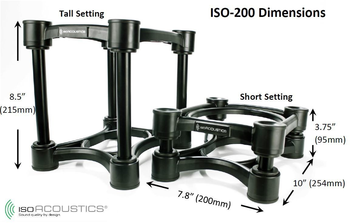 IsoAcoustics ISO-200 Isolation Stands