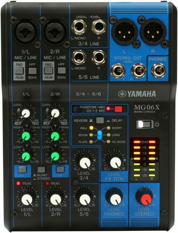 Yamaha MG06X (6 channel mixer)