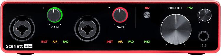 Focusrite Scarlett 4i4 audio interface (3rd Generation)