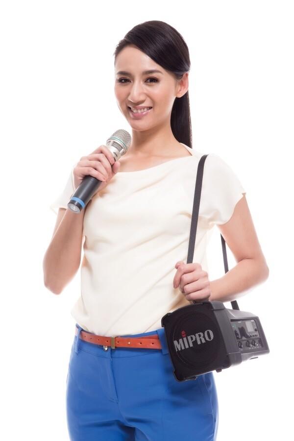 MIPRO MA-100DB 雙頻道超迷你無線喊話器