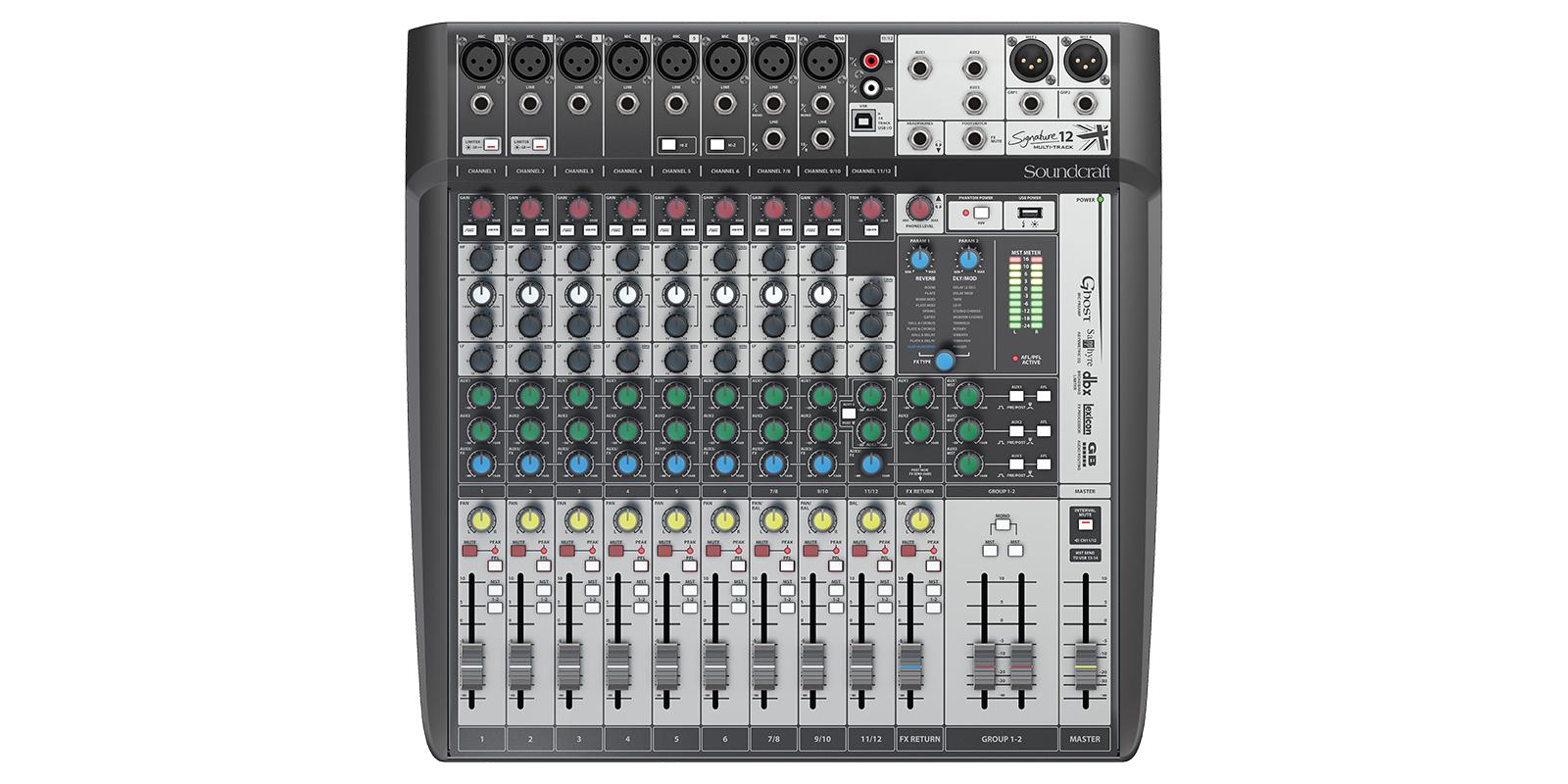 Soundcraft Signature 12 MTK mixer 00861