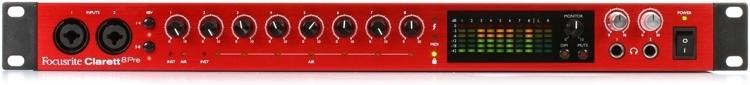 Focusrite Clarett 8Pre thunderbolt audio interface