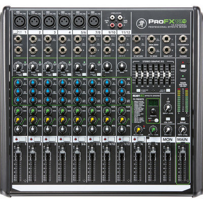 Mackie ProFX12v2 (12 channel mixer with effects)