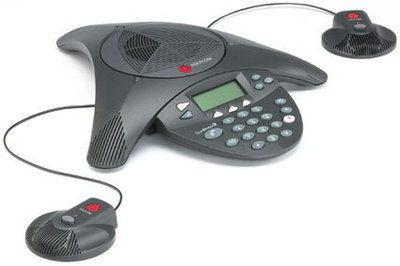 Polycom SoundStation EX + 2 mics 電話會議系統