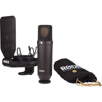Rode NT1 Kit - Cardioid Condenser Microphone with shock mount