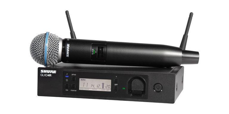 Shure GLXD24R/B58 handheld wireless system (2.4Ghz digital technology)