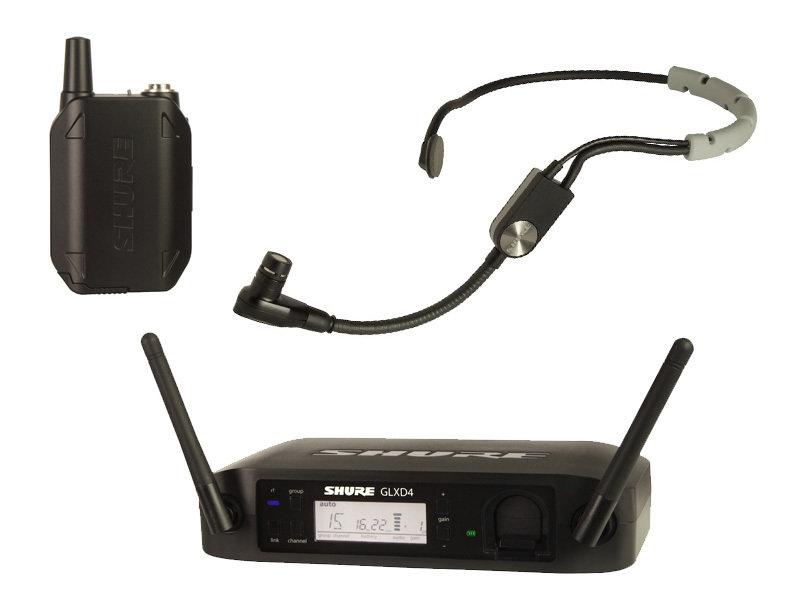 Shure GLXD14R/SM35 GLX-D ADVANCED DIGITAL WIRELESS HEADSET SYSTEM WITH SM35 HEADSET MICROPHONE (2.4Ghz digital)
