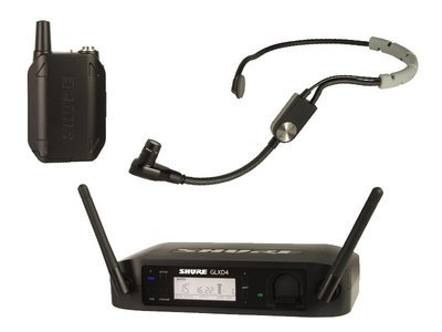 Shure GLXD14R/SM35 GLX-D ADVANCED DIGITAL WIRELESS HEADSET SYSTEM WITH SM35 HEADSET MICROPHONE (2.4Ghz digital)