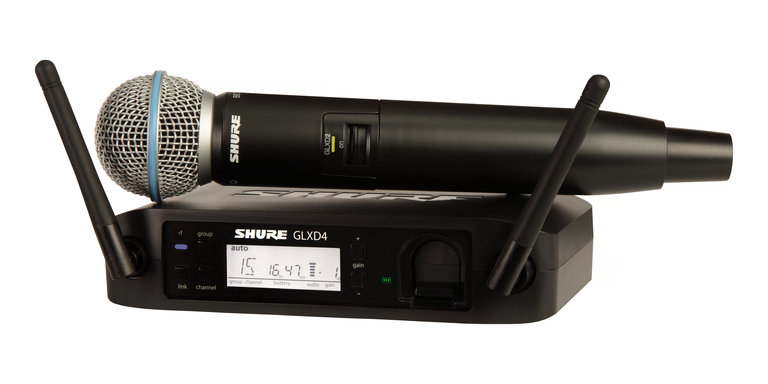Shure GLXD24/B58 Handheld Wireless System