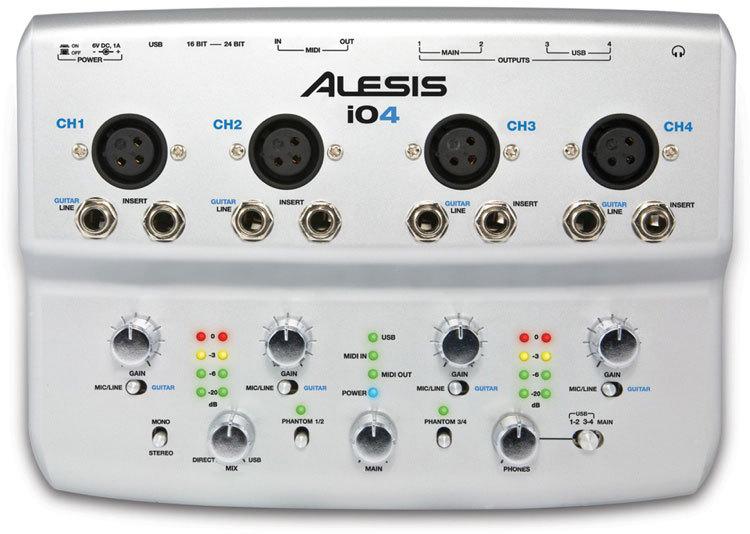 Alesis io4 Audio Interface | 電腦USB錄音界面 00012