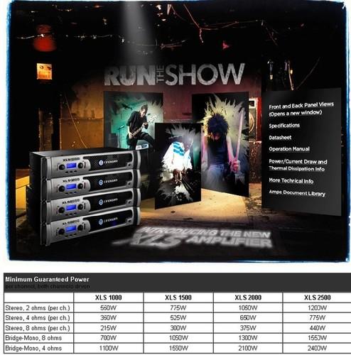 Crown amplifier XLS 2000 00052