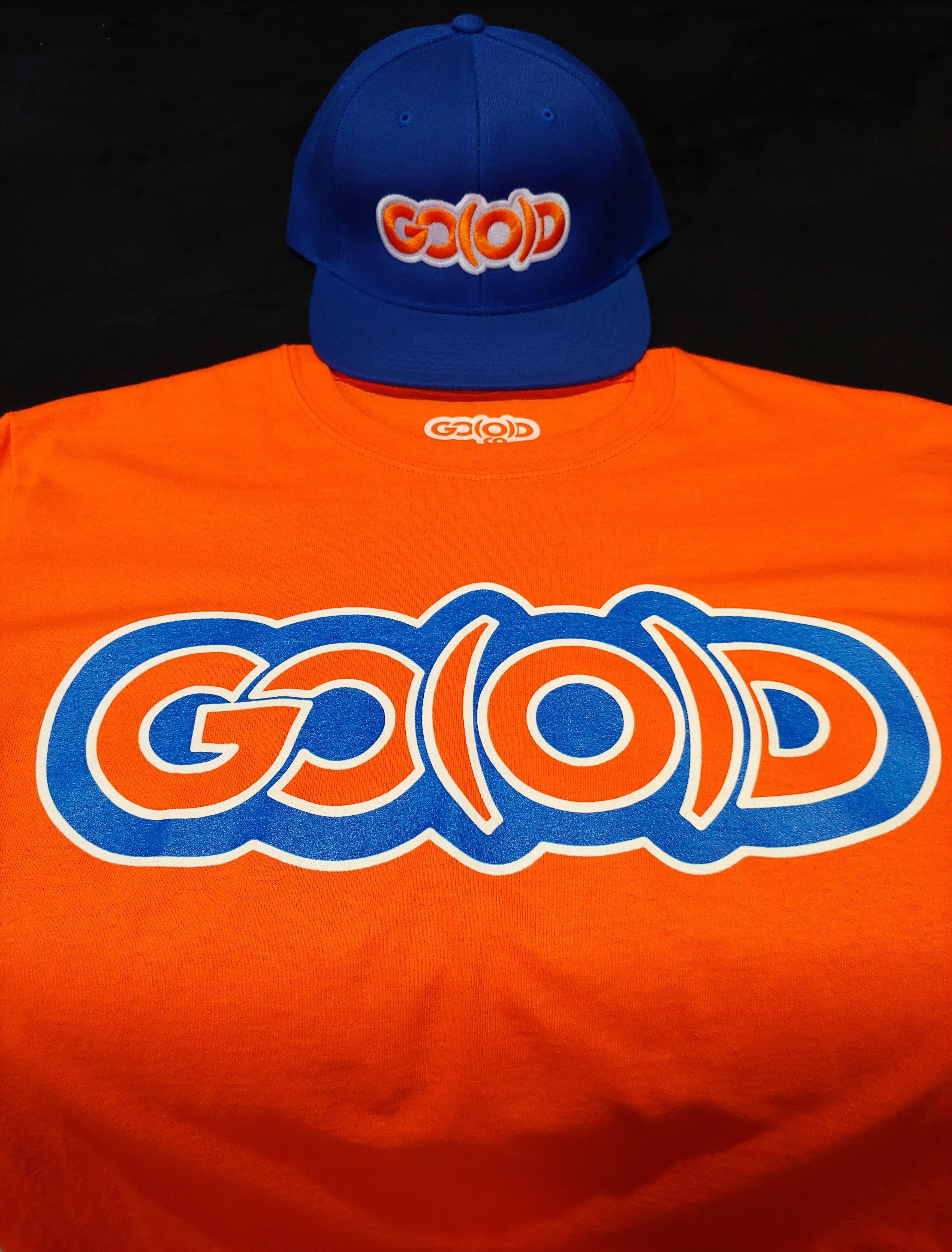 GO(O)D Snapback-royal/orange/white