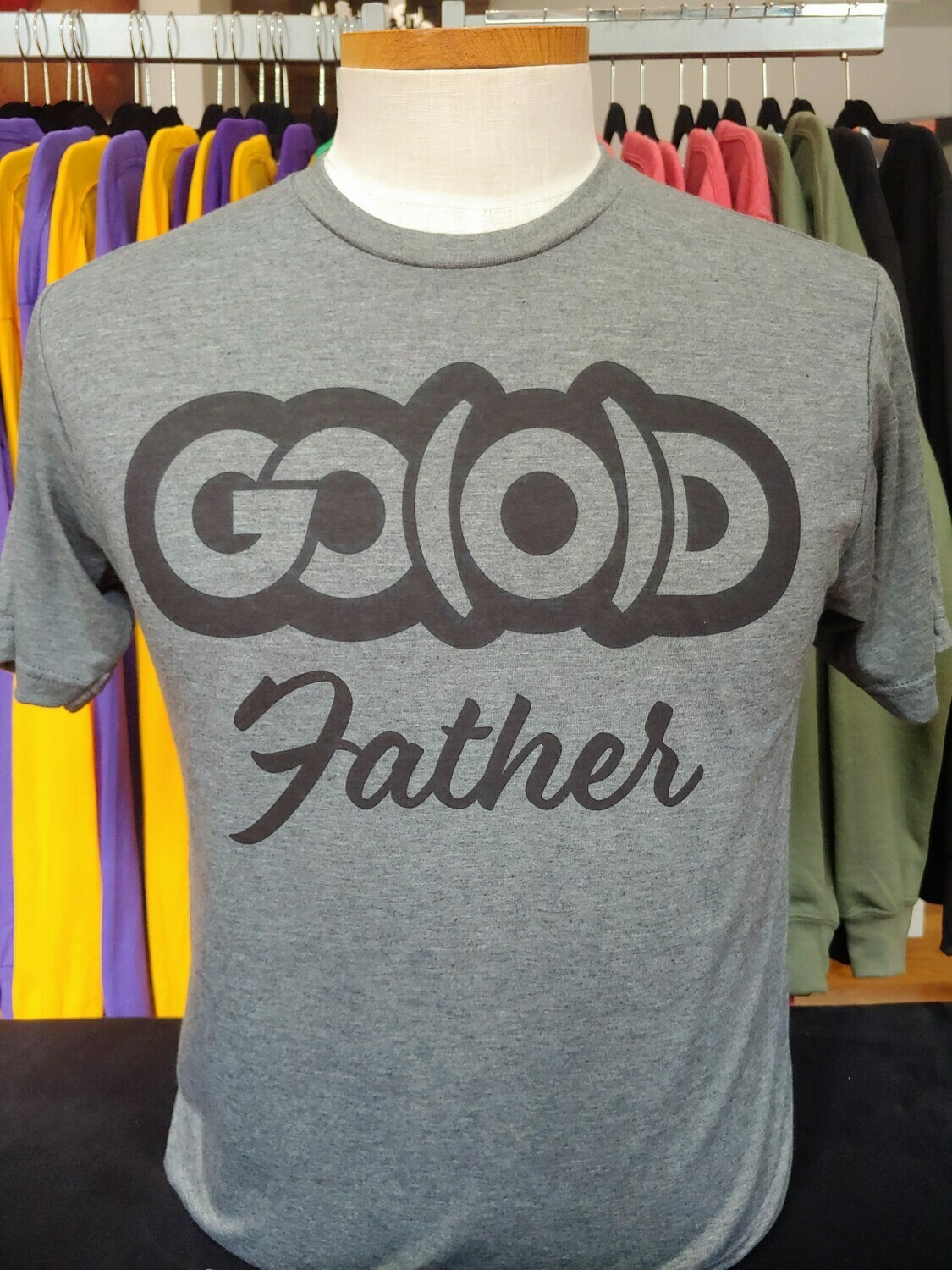 *LIMITED* GO(O)D Father tee-Charcoal/black
