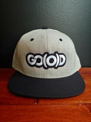 GO(O)D Snapback-heather gray/black/white