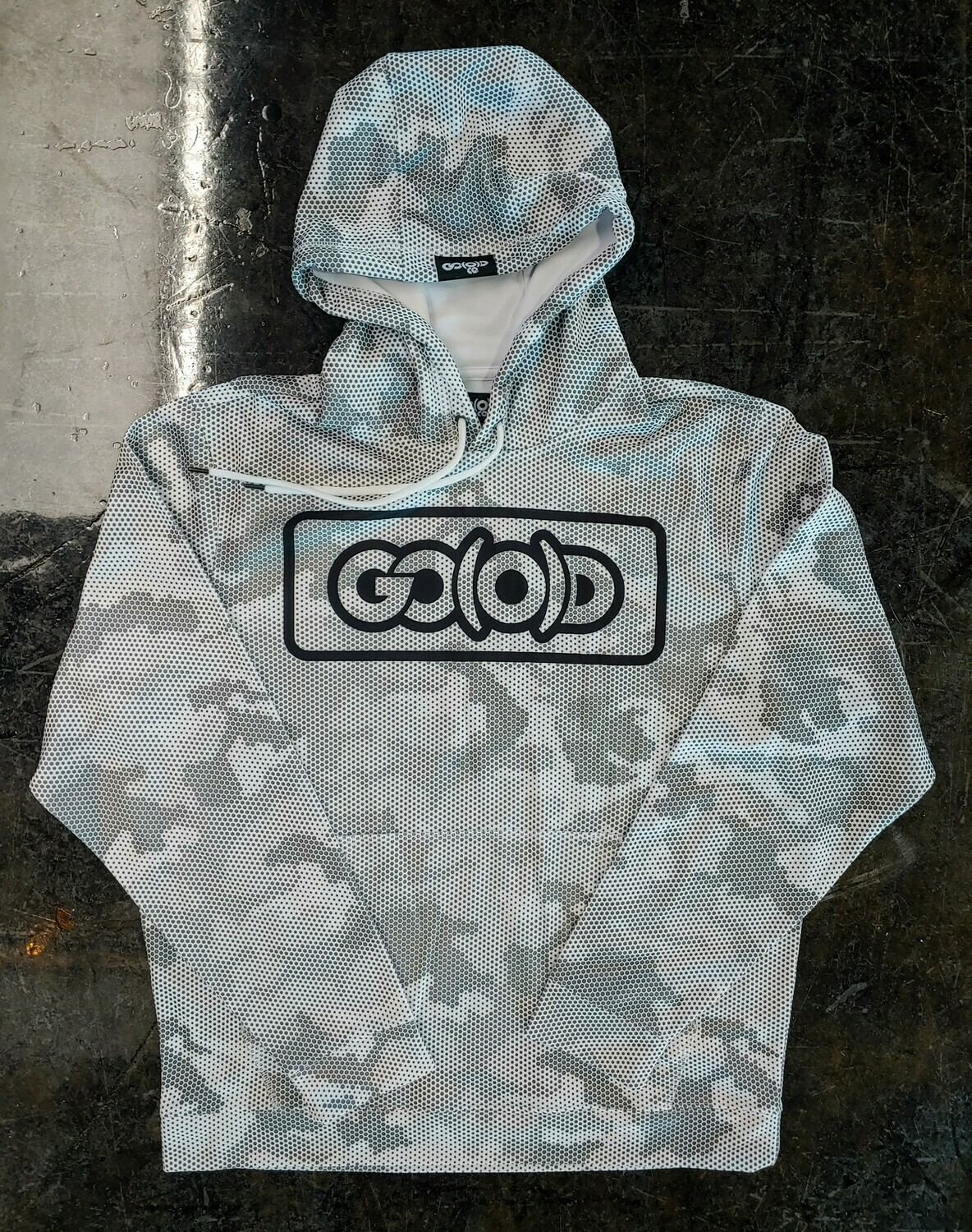 GO(O)D Camo-Hexi Inbox Hoodie-white/gray/black