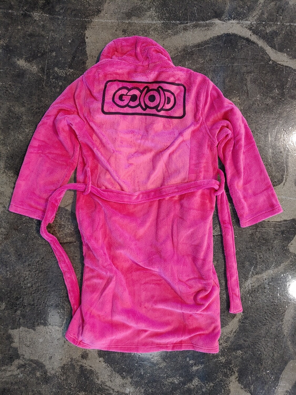 GO(O)D Inbox Plush Robe-pink/black