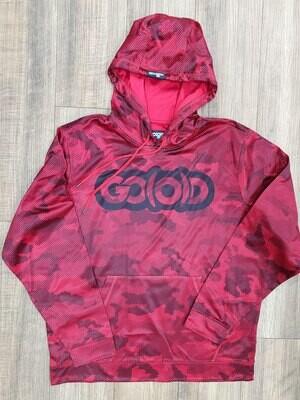 GO(O)D Camo-Hexi Hoodie-deep red/black