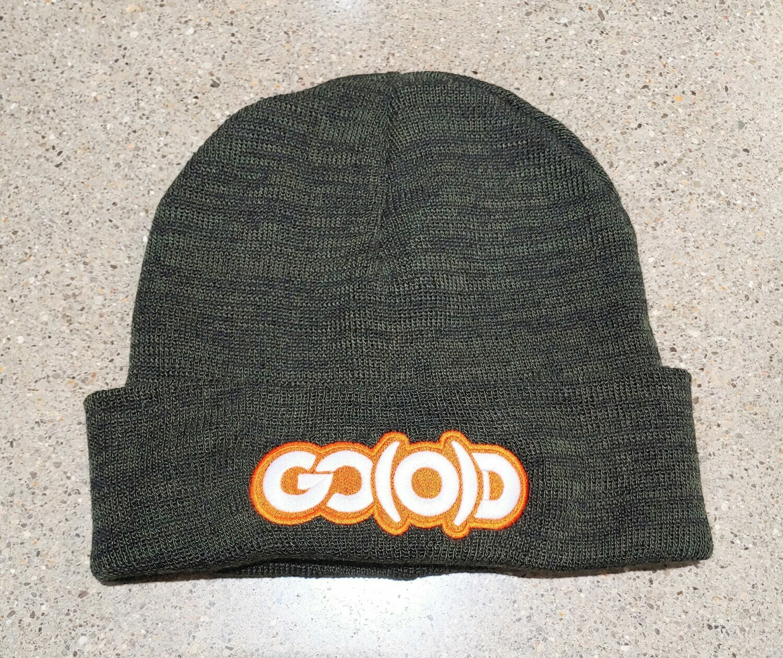 GO(O)D Beanie-heather military green/white/orange