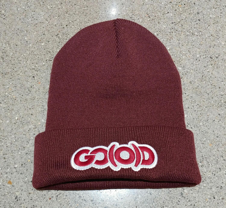 GO(O)D Beanie-garnet/maroon/white