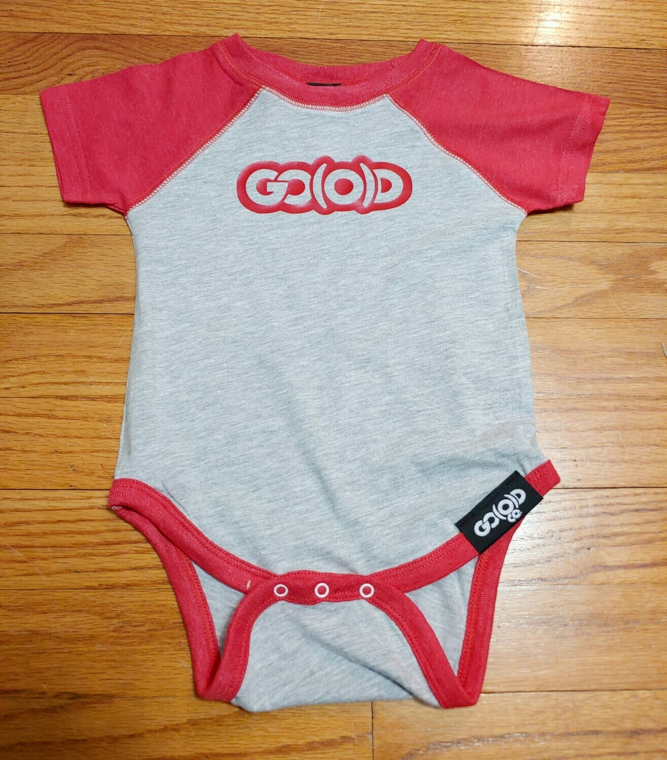 GO(O)D Onesie-gray/red/red logo