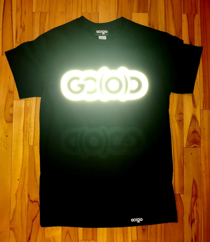 Reflect GO(O)D tee-black/reflective logo