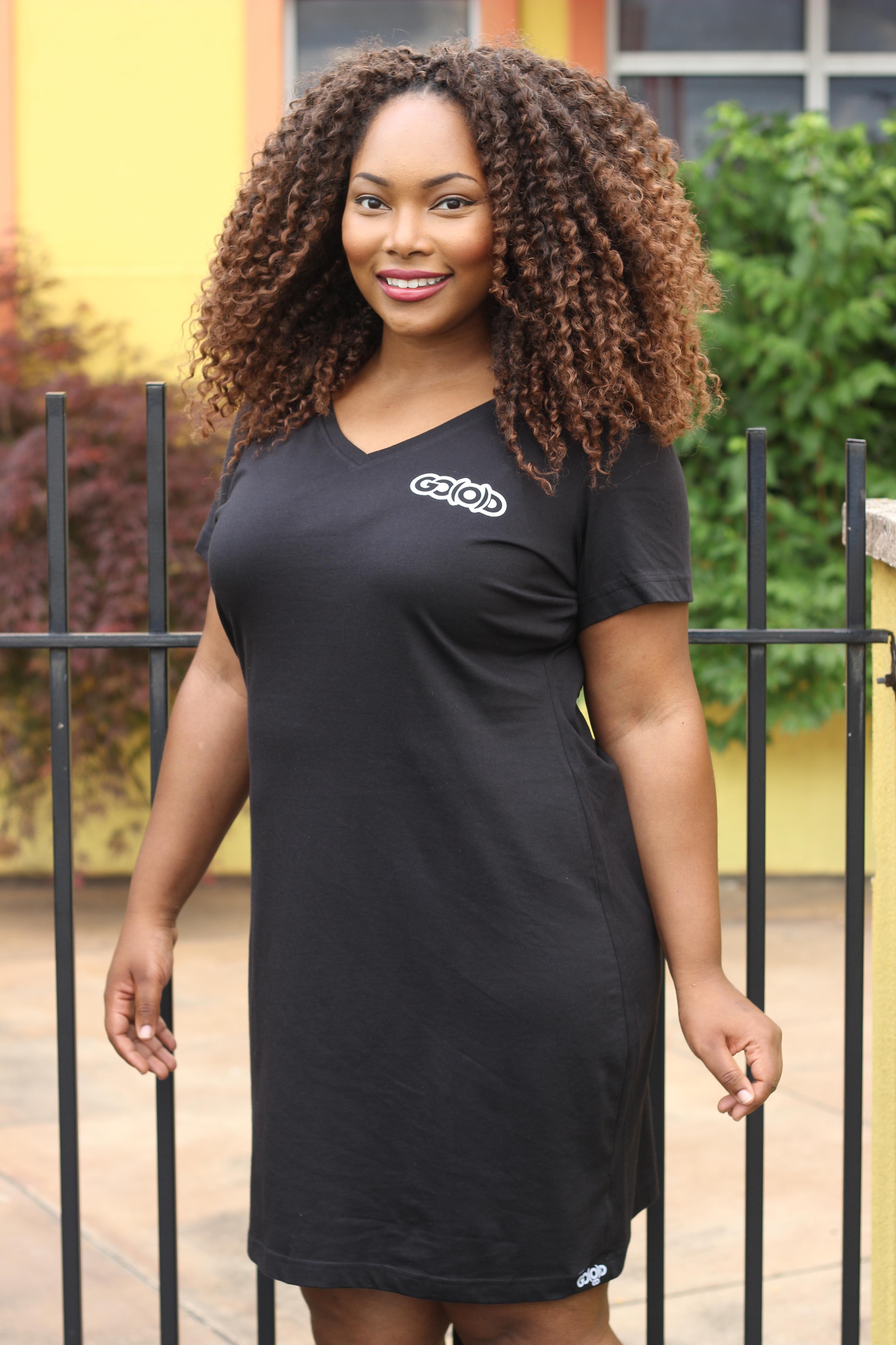 GO(O)D t-shirt dress-black 00065