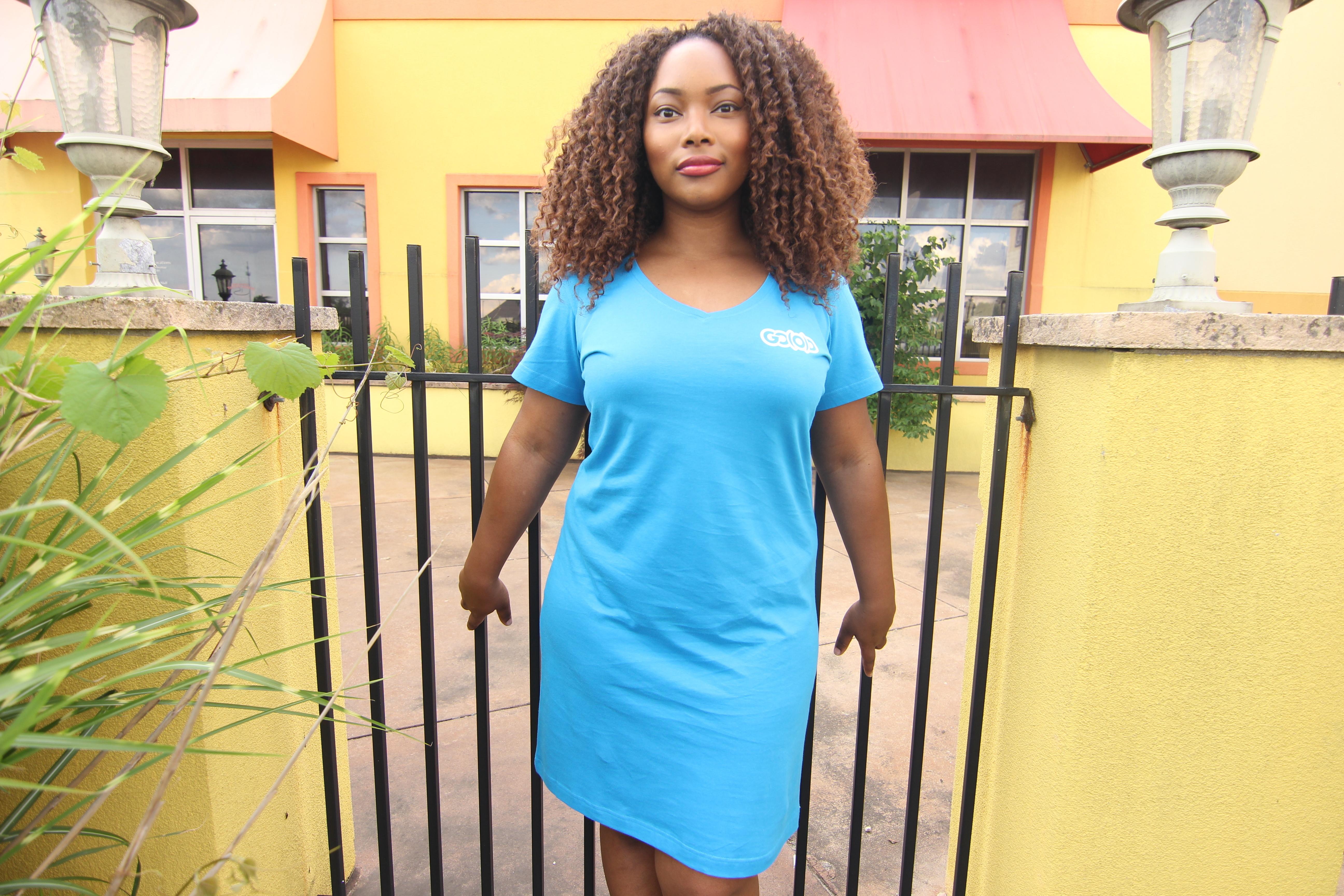 GO(O)D t-shirt dress-blue 00066