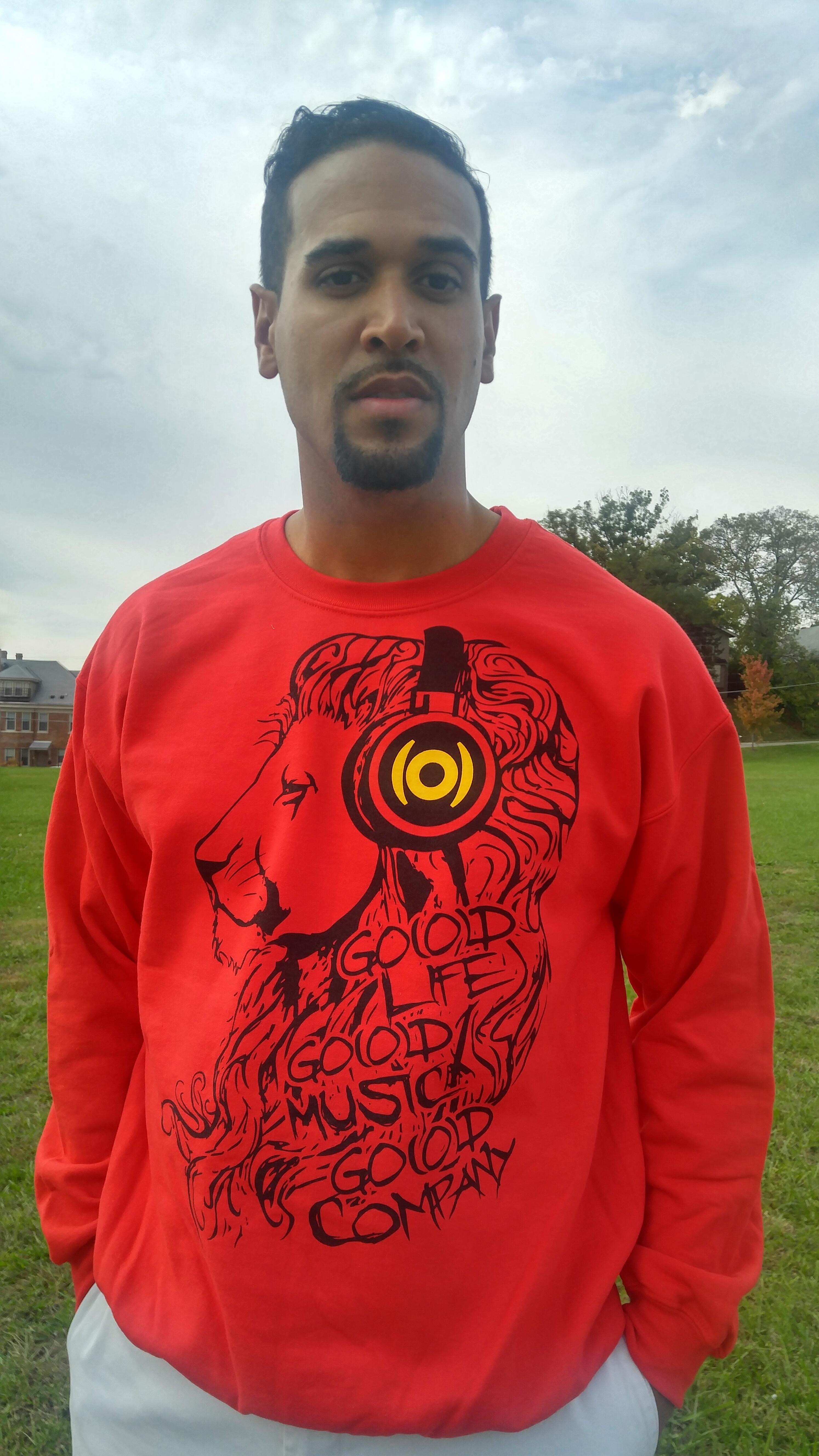 GO(O)D Lion sweatshirt-red 00087