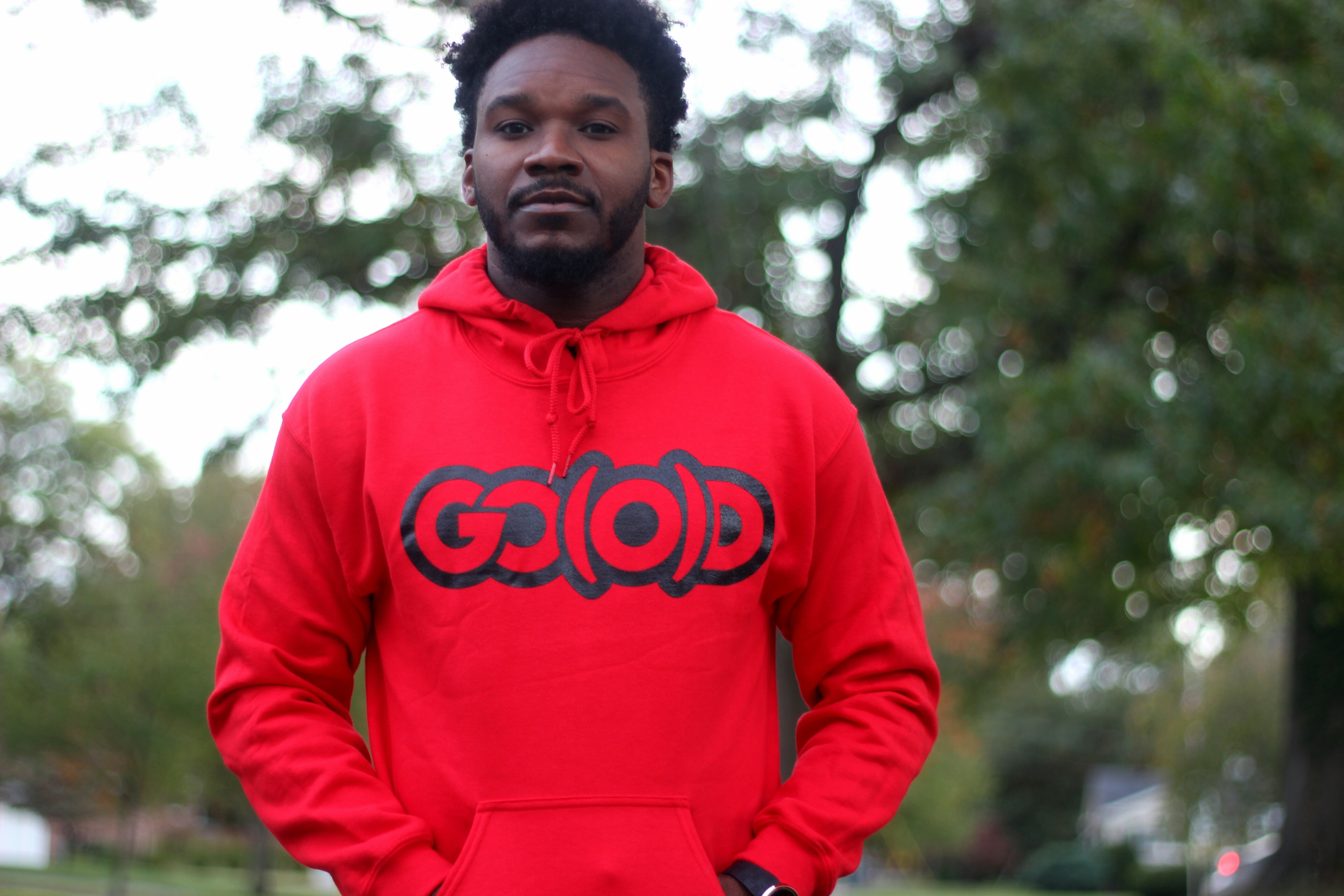 GO(O)D Hoodie-red 00090