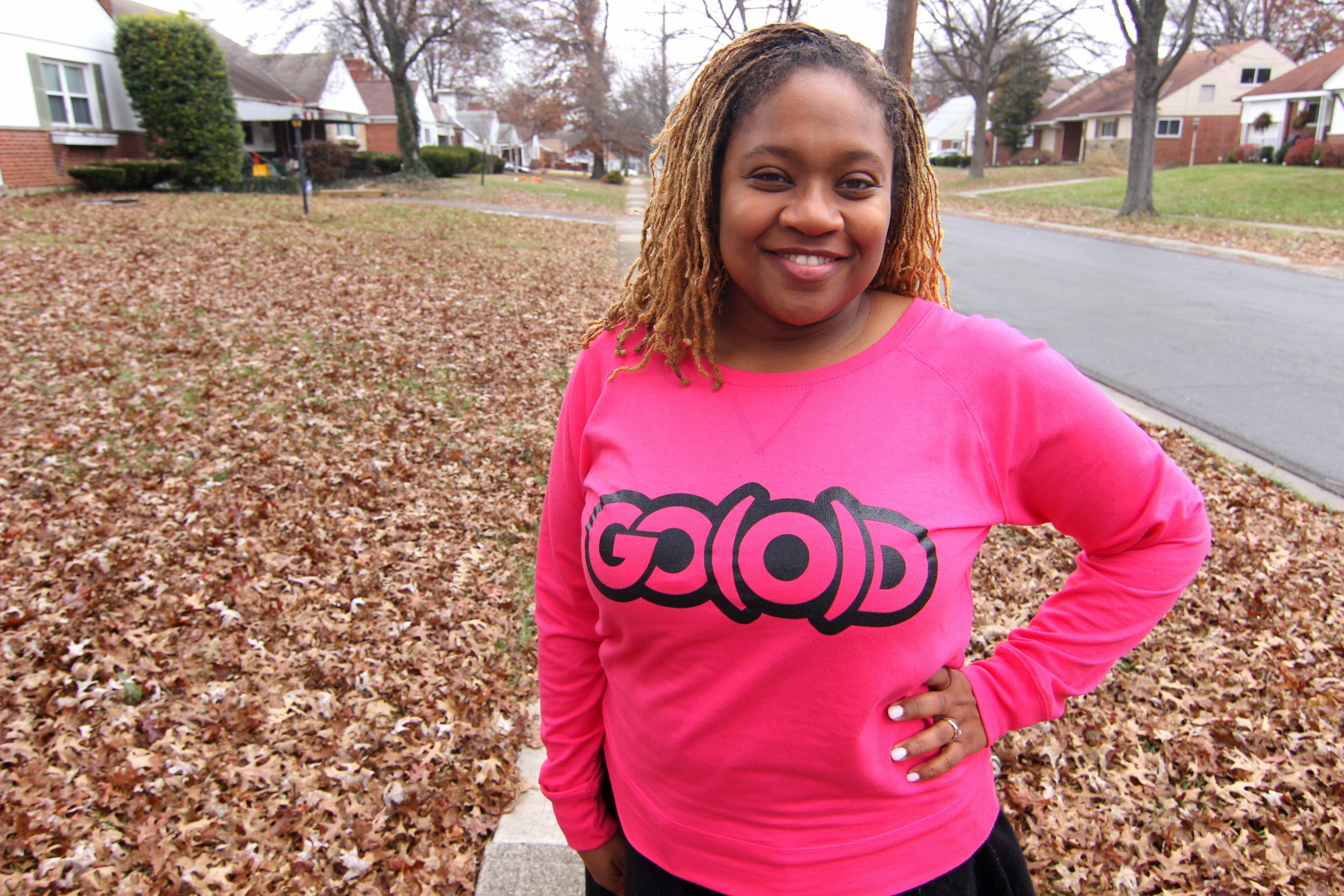 Women's GO(O)D Slouch sweatshirt-pink 00093