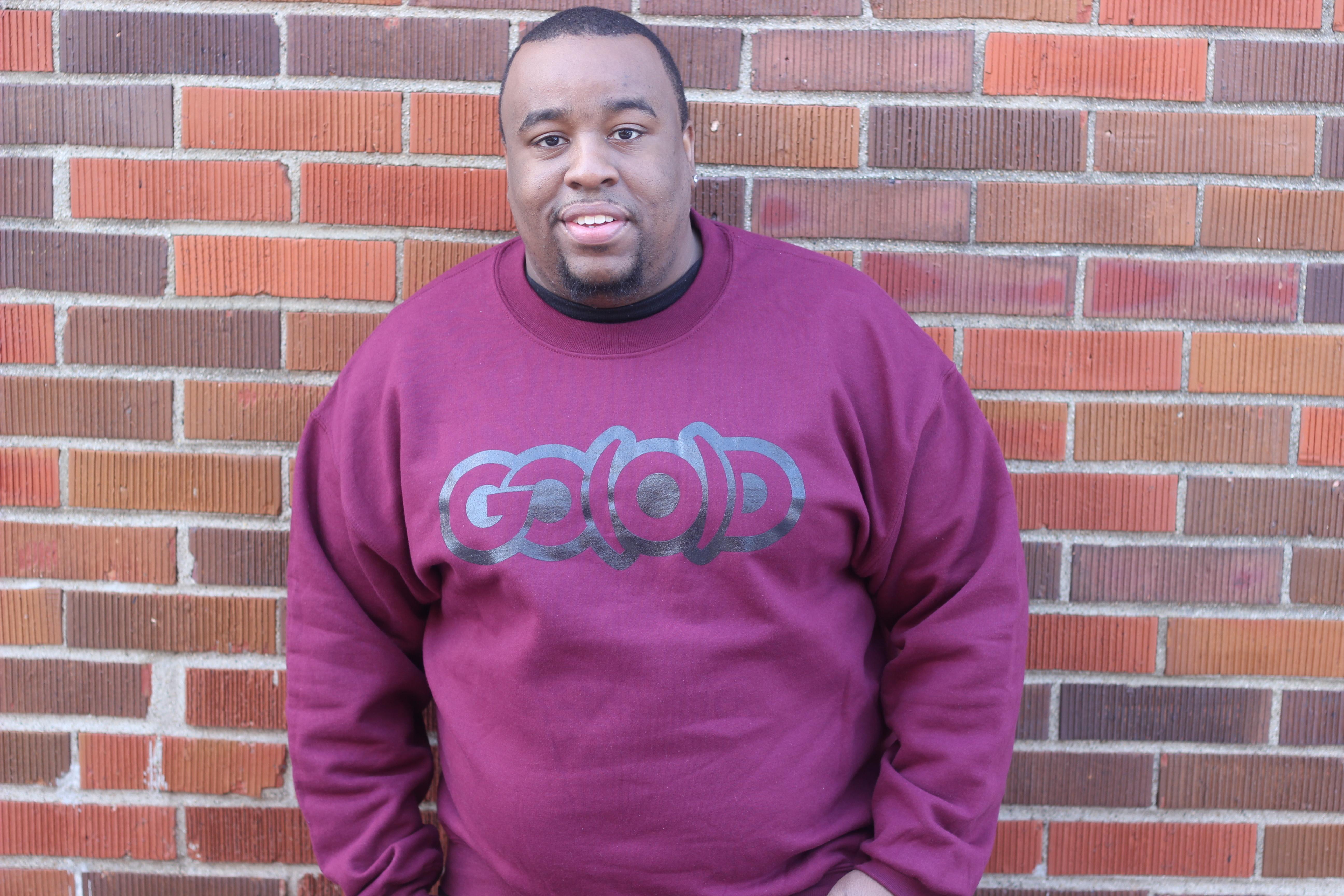 GO(O)D sweatshirt-maroon 00100