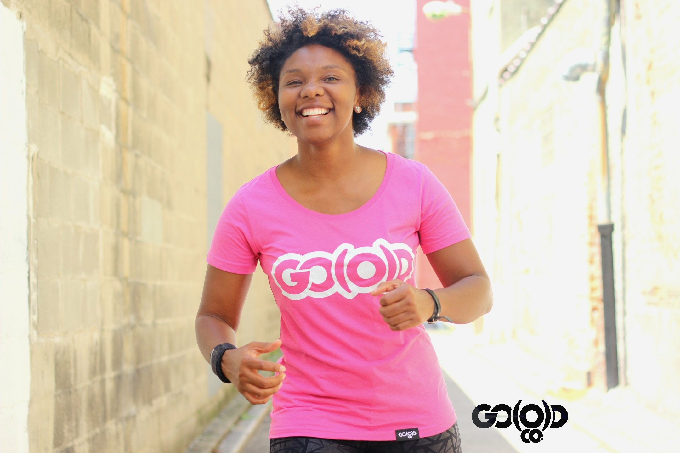 GO(O)D scoop neck tee-pink/wht 00126