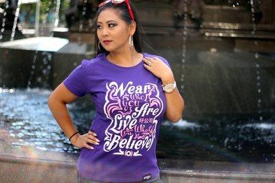 Slogan tee-purple