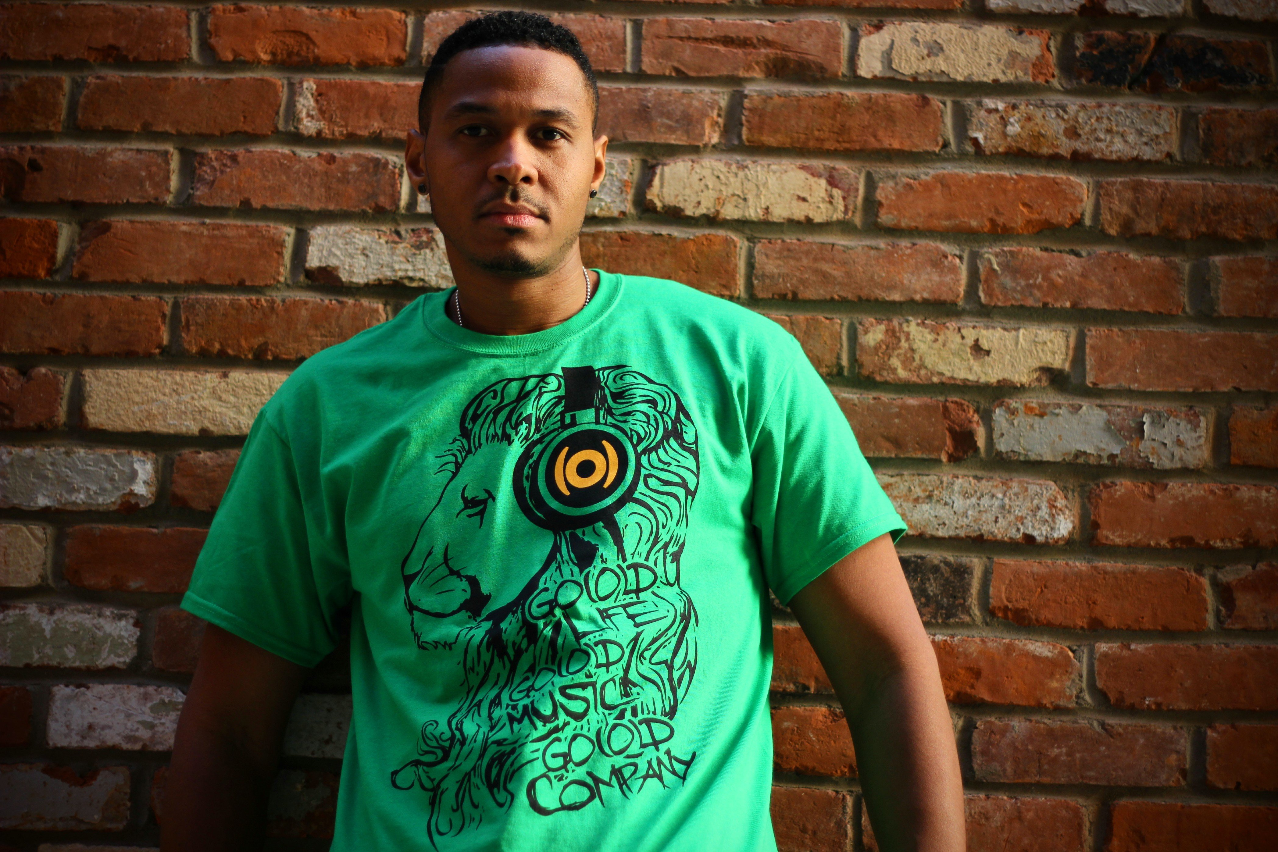 GO(O)D Lion tee-green 00140