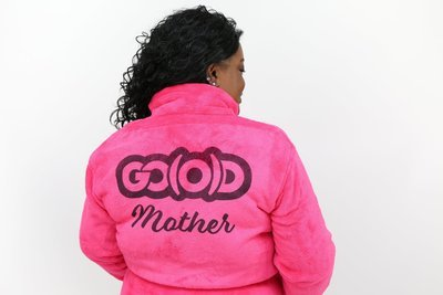 PLUSH GO(O)D Mother Robe-Pink/Blk