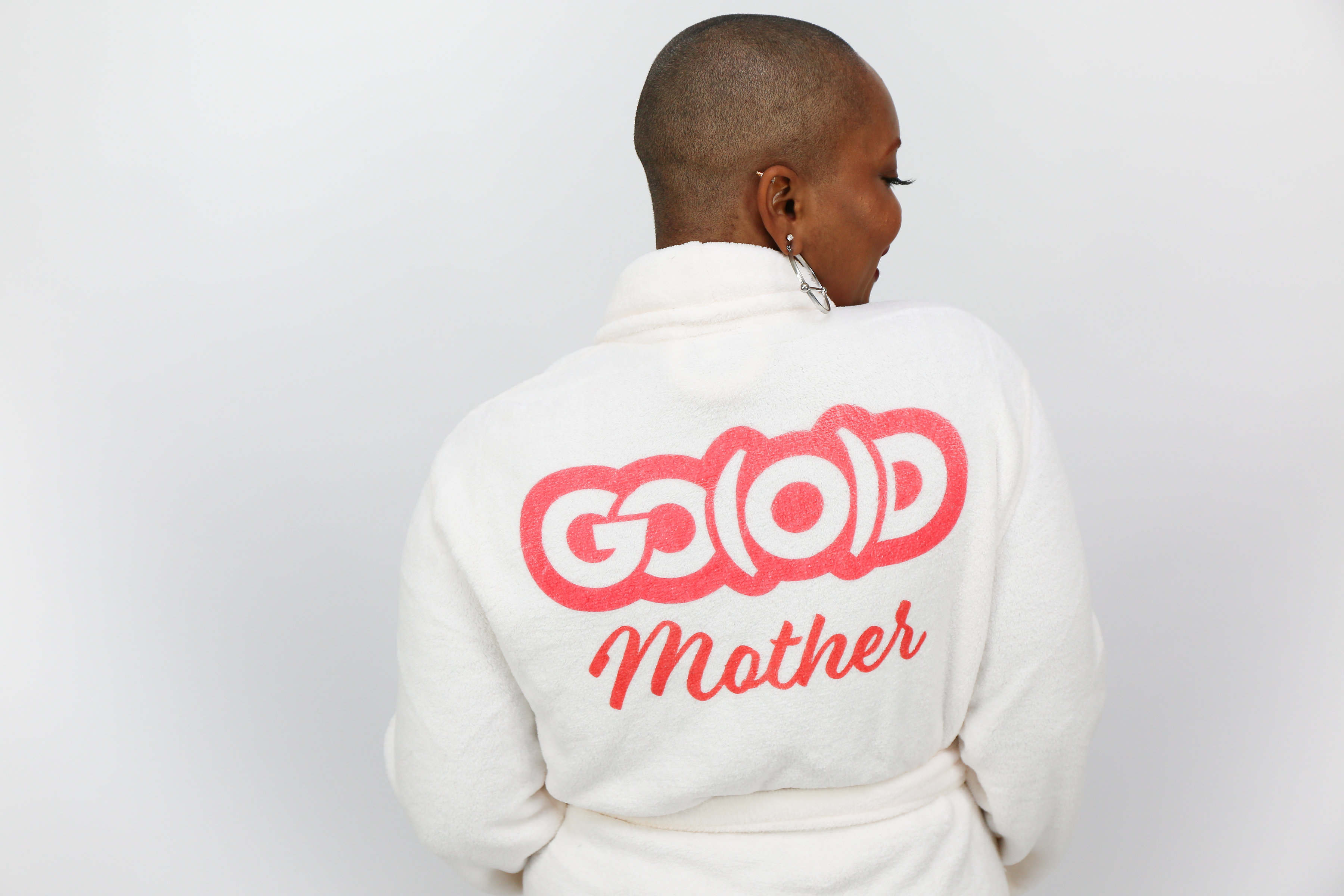 PLUSH GO(O)D Mother Robe-White/Red 00150